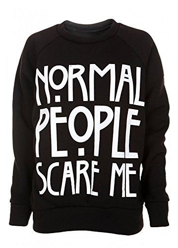 Normal People Scare Me American Horror Story Slogan Felpa da donna nero Black M / L