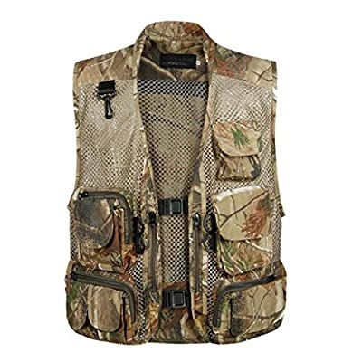 Men Outdoor Sport Multi-Pocket Mesh Vest Fly Fishing Photography Hunting Shooting Travel Quick-Dry Jacket Waistcoat M-XXXL from Generic