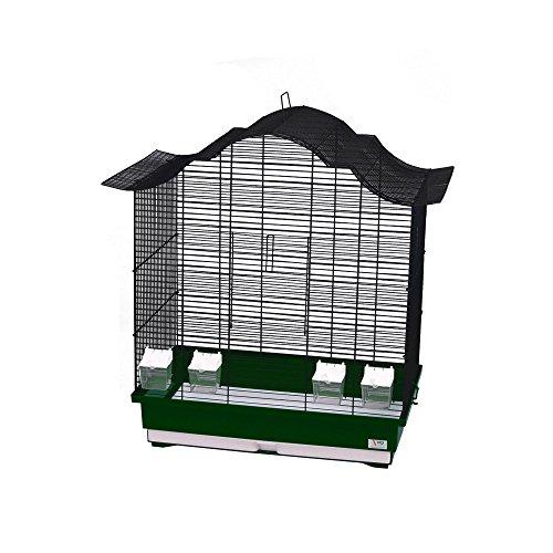 WD IMPEX CTC-Trade| Vogelkäfige XXL Grün Außenmaße 70x42x72,5 cm Urlaub Reisekäfig Zubehör Wellensittich Kanarienkäfig Futternapf Plastik Vogel Modell Asia 60