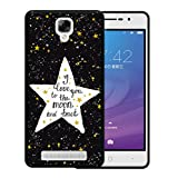 WoowCase Doogee X10 Hülle, Handyhülle Silikon für [ Doogee X10 ] Star Satz - I Love You to The Moon and Back Handytasche Handy Cover Case Schutzhülle Flexible TPU - Schwarz