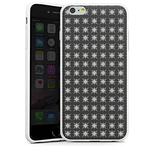 Apple iPhone X Silikon Hülle Case Schutzhülle Muster Schwarz Grau Geometrisch Silikon Case weiß