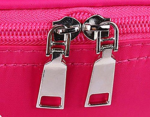 CLOTHES- Scatola di immagazzinaggio di caso cosmetica portatile della borsa di lavaggio della borsa cosmetica portatile ad alta capacità di allievo delle signore ( Colore : Rosso ) Rosa