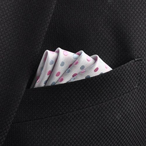 Hommes Polka Point Poche Carré Cravate Entreprise Mariage Fête Boite cadeau ciciTree-Set 4 Set 5