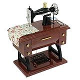 Spieluhr - SODIAL(R) Aufzieh- Vintage Mini Naehmaschine Stil Mechanische Spieluhr