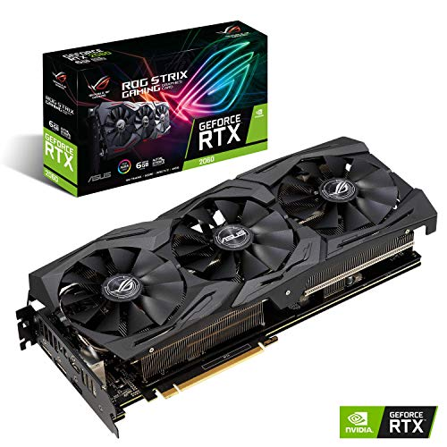 ASUS ROG STRIX NVIDIA GeForce RTX 2060 6G Gaming Grafikkarte (PCIe 3.0, 8GB DDR6 Speicher, HDMI, Displayport, USB Type-C) (Grafikkarten-gaming)