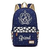 Gfriend Canvas Bag Rucksäcke Rucksack für Jugendliche Mädchen Frauen Schultaschen Reisetasche Navy Blue