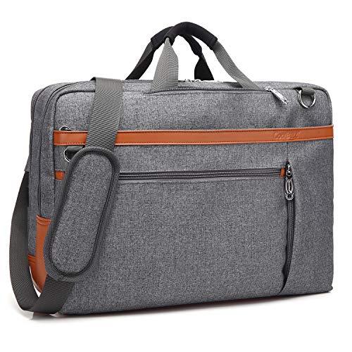 CoolBell umwandelbar Laptop Tasche Messenger Bag Herren Aktentasche Umhängetasche Multifunktionale Businesstasche Reisen Rucksack passend für 17-17,3 Zoll MacBook Notebook(Grau)