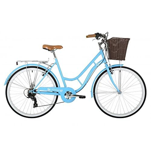 "51dVV5TiJPL. SS500  - Classic Heritage Ladies 26"" Wheel 7 Speed 16"" Traditional Bike Bicycle Blue"