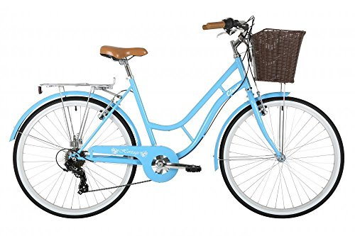 Classic Heritage Ladies 26″ Wheel 7 Speed 19″ Frame Traditional Bike Bicycle Blue