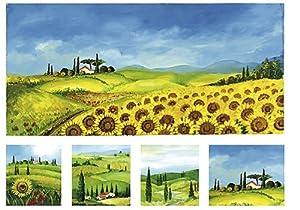 Renkalik renkalikqsipr06135x 50cm Toscana 2Seda impresión Hoja de Papel (Juego de)