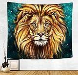 YISUMEI 230x150 cm Tapisserie Golden Lion Wandbehang Tabelle Vorhang Wand Decor Tisch Couch Bezug Picknick Decke Beach Überwurf