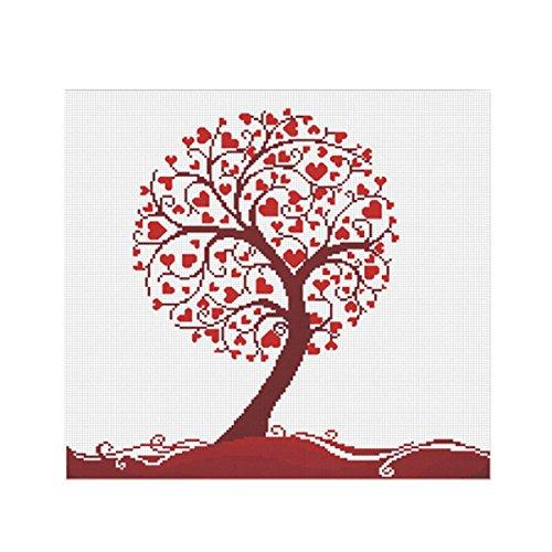Liebe Baum Herz Blume Stickerei Malerei Kreuzstich Begonnen Gezählt Setzt Bild Für Zuhause Wohnzimmer Schlafzimmer DIY Handarbeit Handarbeiten Wand Dekorationen Zeichnung Kunsthandwerk Liebe Geschenk -