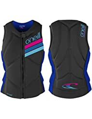 2017 O'Neill Ladies Slasher Comp Impact Vest GRAPHITE / TAHITIAN BLUE 4938EU