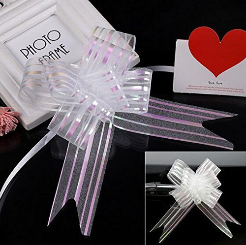 funcoo-40pcs-organza-pull-string-schleifen-wrap-band-fr-hochzeit-party-home-dekoration-wei