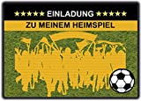 Fussball Einladungskarten Kindergeburtstag Einladung Jungen Kinder Geburtstag - 8 Stück