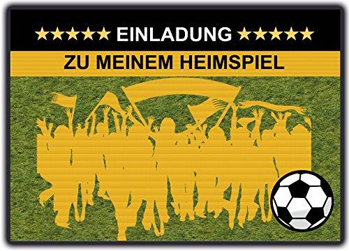 Fussball Einladungskarten Kindergeburtstag Einladung Jungen Kinder Geburtstag - 10 Stück