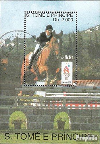 sellos para coleccionistas: Sao Tome e príncipe Bloque 307 (completa.edición.) matasellado 1993...