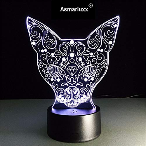 Kinder kreative süße Katze Nachtlicht Baby Kind Nachttischlampe Multi-Color-Acryl-Touch-Sensor-Kontrolllampe