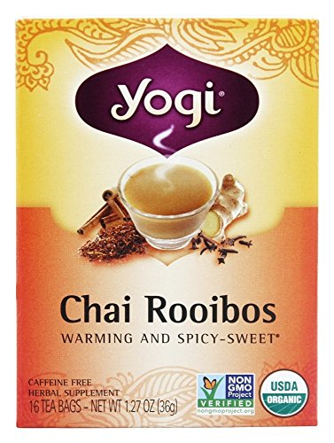 Yogi Tea - senza - bustine di tè del 16 precedentemente Chai Redbush Chai Rooibos tè organico caffeina