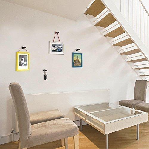 Walplus Stickers muraux 5,5 cm x 3,2 cm New Manteau Crochet mur Hanger Art Nail Art DIY Maison Décoration Salon Chambre Décor, Noir