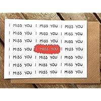 lustige Karte - Fernbeziehung - Ich vermisse Dich - Geschenk - beste Freundin