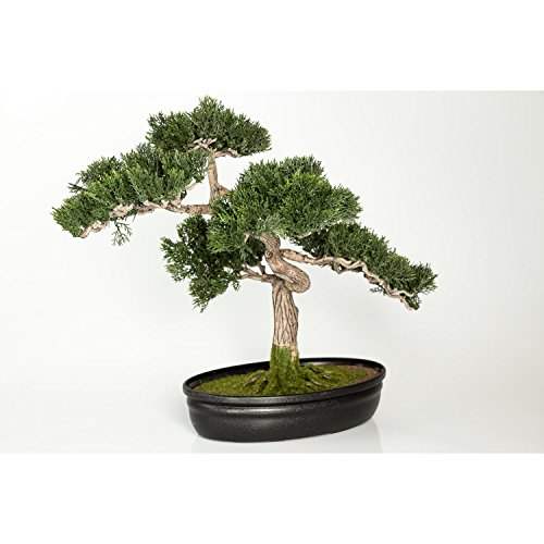 Artificial Bonsai Cedar in decorative planter, 230 little branches / twigs, 16