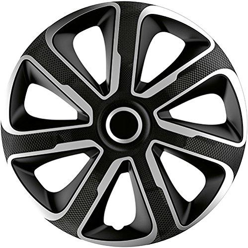 ZentimeX Z778368 Radkappen Radzierblenden universal 13 Zoll Silver black