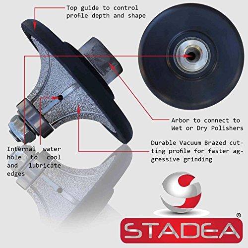 diamond radius profile wheel bits - Profile Grinding Wheel Radius Demi 1 B25 For Granite Marble Stone Concrete Shaping/Diamond Profiling By STADEA by STADEA - Radius Diamond