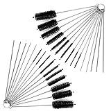 Nylon Tube Brosse Cleaner, Yucool 2ensembles de tuyau Brosse de nettoyage kit totale de 30pcs avec étui gratuit pour pailles Lunettes claviers Bijoux–20pinceaux + 10aiguilles