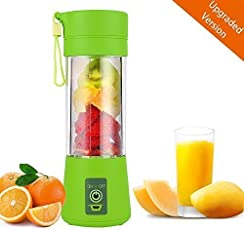 Portable USB Electric Blender Juice Cup(Multicolour) by RZS Kitchen King