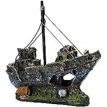 barco de pesca adorno decoracin del acuario resina para pecera