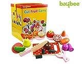 Best Wooden Kitchens For Kids - Baybee Wooden Magnetic Cut Fruit & Vegitable Blocks Review
