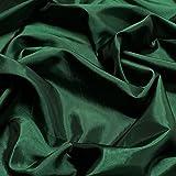 Stoff Polyester Kleidertaft dunkelgrün Taft dezenter Glanz
