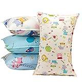 Biubee 4 pezzi nursery Pillow case (30*50 cm) – cotone naturale copertura del cuscino per neonati e bambini.
