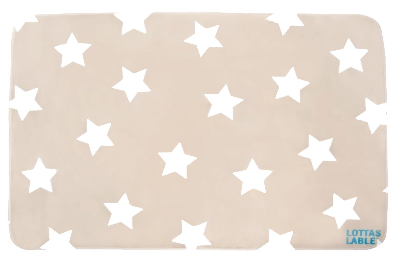 Kinderzimmer sterne beige  Lottas Lable Kinderzimmer Teppich Softie Stern Beige 70 x 100 cm ...