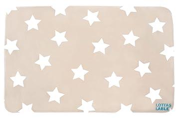 Kinderteppich sterne beige  Lottas Lable Kinderzimmer Teppich Softie Stern Beige 70 x 100 cm ...