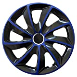 Eight Tec Handelsagentur 16 Zoll Radkappen/Radzierblenden Stick Extra in Blau – Passend für Fast Alle Fahrzeugtypen (Universal)