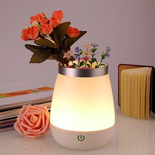 Nachtlicht Nexlux Vase Lamp LED Dekorative Mood Licht Lampe Nachttischlampe Stimmungslicht mit Touch-Sensor