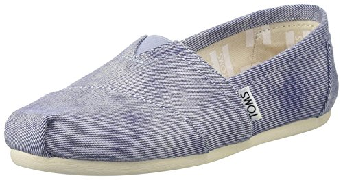 TOMS Women's Canvas Seasonal Classics Alpargata Low-Top Slippers, Blue (Slate Blue), 4...