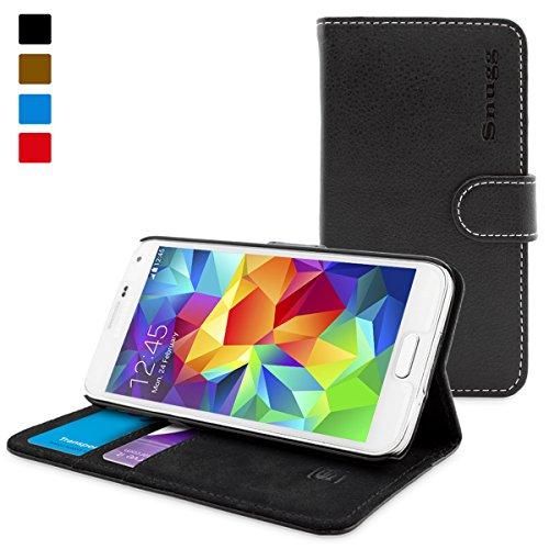 TheSnugg B00IJCM9V4 Hülle für Mobiltelefone, Folio, Samsung, Galaxy S5, 12,9 cm (5,1 Zoll), Schwarz (London S5 Case Galaxy Samsung)