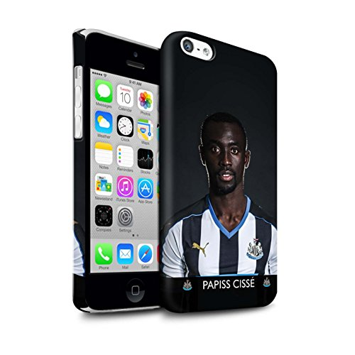 Offiziell Newcastle United FC Hülle / Matte Snap-On Case für Apple iPhone 5C / Pack 25pcs Muster / NUFC Fussballspieler 15/16 Kollektion Cissé