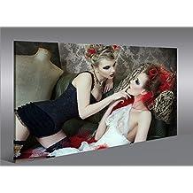 Quadro moderno arte Erotica V4Artful Nude Impresión sobre lienzo–Quadro X sillones salón cocina muebles oficina casa–Fotográfica Tamaño XXL cuadros
