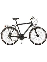 KS Cycling Herren Fahrrad Trekkingrad Norfolk RH 56 cm Flachlenker, Schwarz, 28, 143T