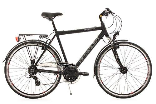 KS Cycling Herren Fahrrad Trekkingrad Norfolk RH 53 cm Flachlenker, Schwarz, 28, 141T