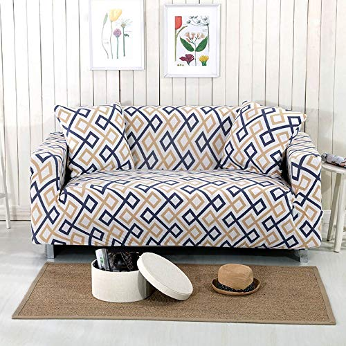 Wenquan, Fashion Moderne Sofa Cover gedruckt Anti-schmutzig Full Tight Wrap Couch Sofa Cover Hussen Möbel Cover Home Decoration 1/2/3/4-Sitzer (Color : Color 12, Size : 1seater 90 140cm) -