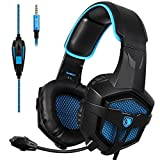 Gaming Headsets Kopfh�rer Gaming f�r neue Xbox one PS4 PC Laptop Mac iPad iPod (Schwarz & Blau) Bild