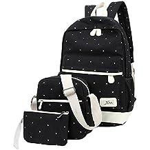 Hosaire Backpack Mochilas Escolares Mujer Mochila Escolar Lona Bolsa Casual para Chicas Bolsa De Hombro Mensajero