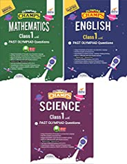 Olympiad Champs Science, Mathematics, English Class 1 with Past Questions 3rd Edition (set of 3 books)