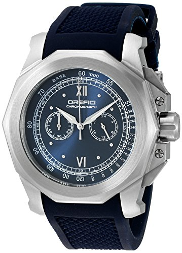 Orefici Quartz Stainless Steel and Rubber Casual Watch, Color:Blue (Model: ORM2C4889)