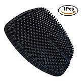 WYCY Silikon Auto Sitzkissen 1 Pc Breathable Massage Silikon Auto Innensitz Abdeckungs Kissen mit einzigartigem 3D Säulen Entwurf verwendbar für 4 Jahreszeit Büro Stuhl schwarz)